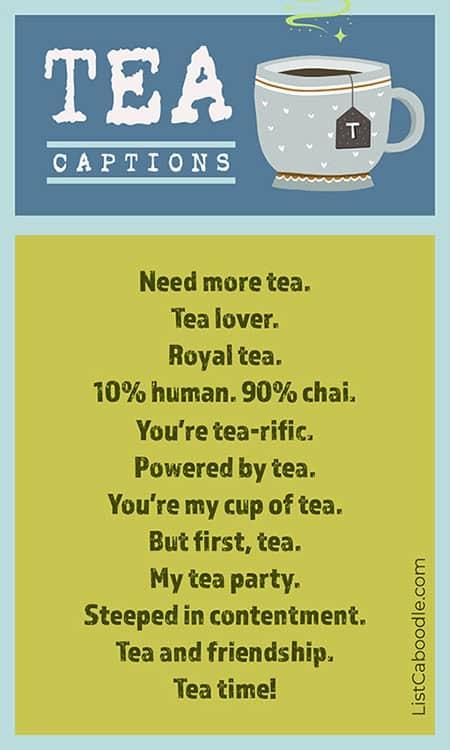 Tea captions image