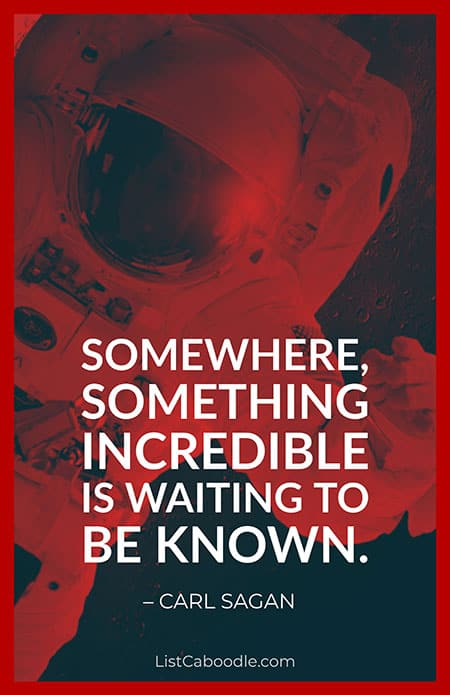 Carl Sagan space quote