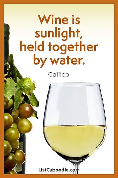 Galileo wine quote