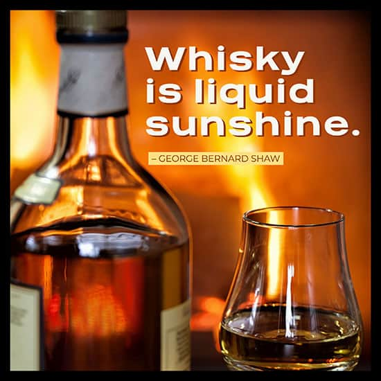 George Bernard Shaw whiskey quote