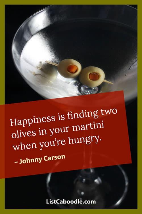 Johnny Carson martini quote