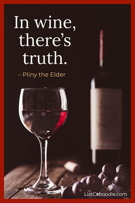 Pliny the Elder wine quote