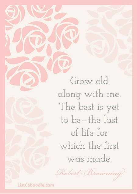 Robert Browning marriage quote