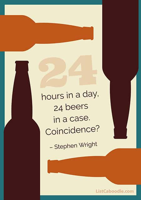 Stephen Wright beer quote