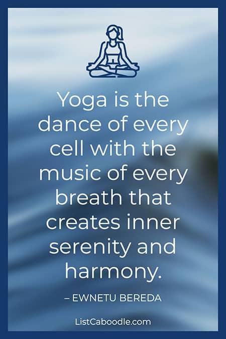 Yoga serenity quote