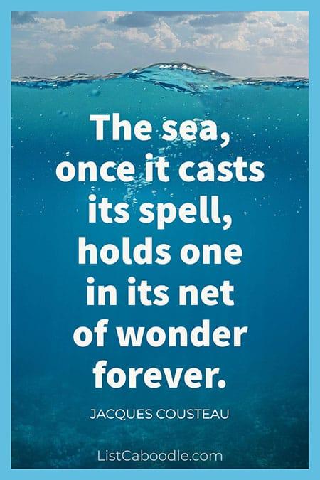 Jacques Cousteau quote
