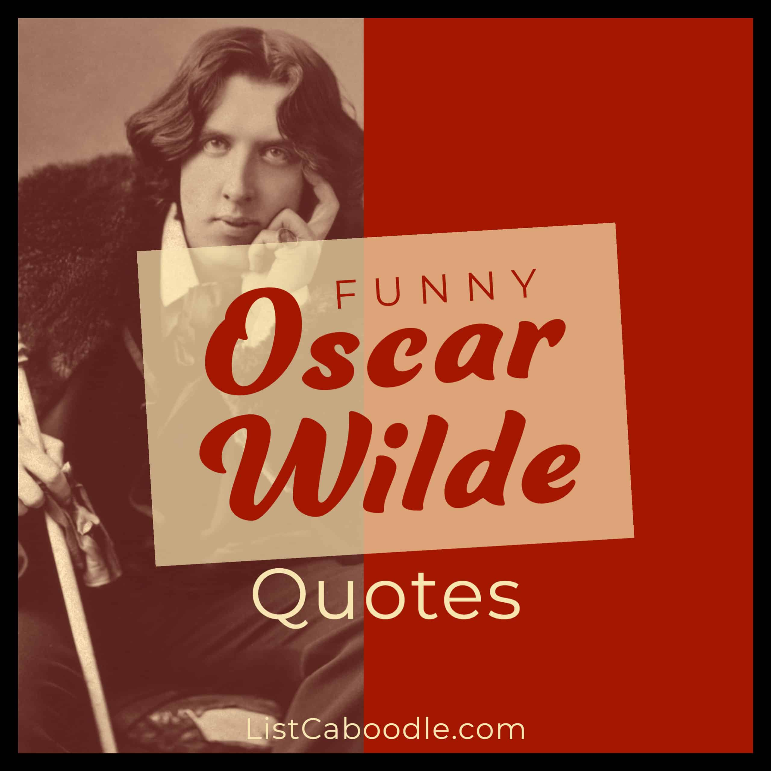 Funny Oscar Wilde quotes image