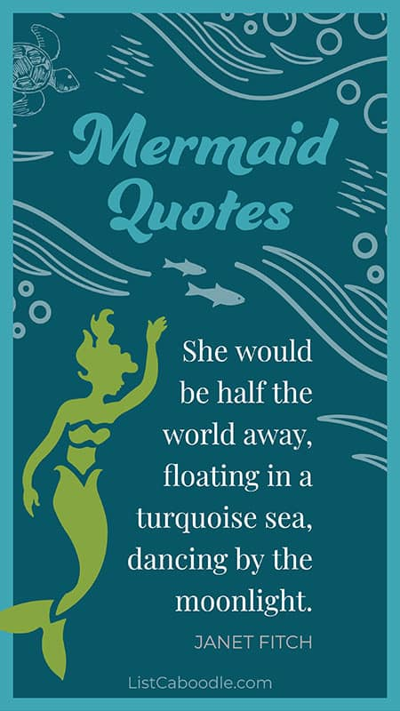 Janet Fitch mermaid quote
