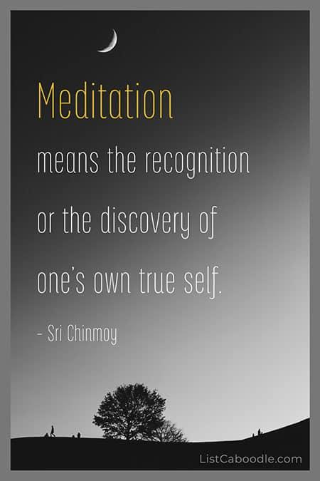 Sri Chinmoy meditation quote