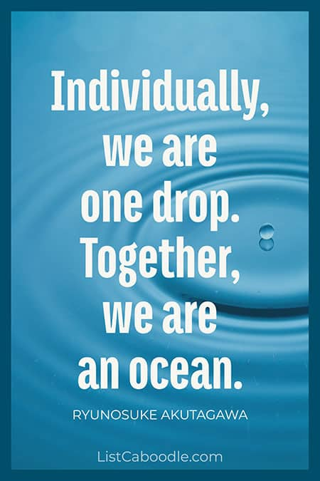 Ocean teamwork quote