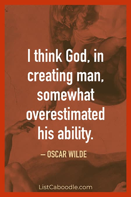 God created man quote