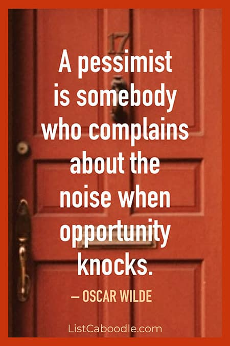Opportunity knocks quote