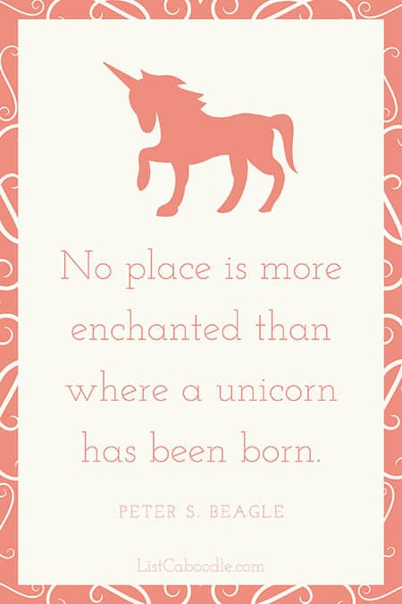 Peter Beagle unicorn quote