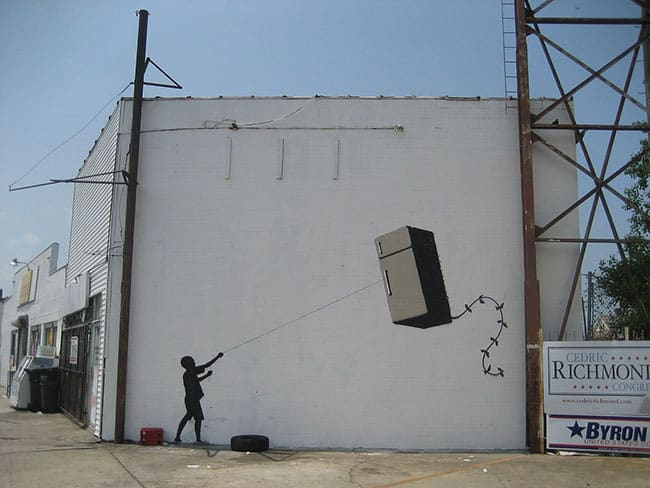 Fridge Kite by Banksy