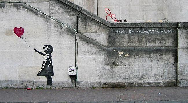 Balloon Girl, famous Banksy graffiti