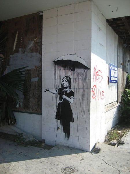 Umbrella Girl by Banksy