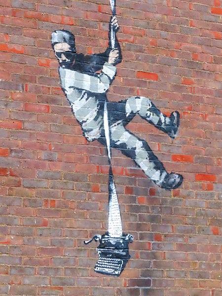 Oscar Wilde tribute by Banksy