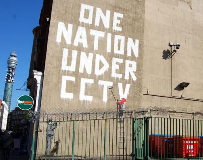 CCTV mural by Banksy