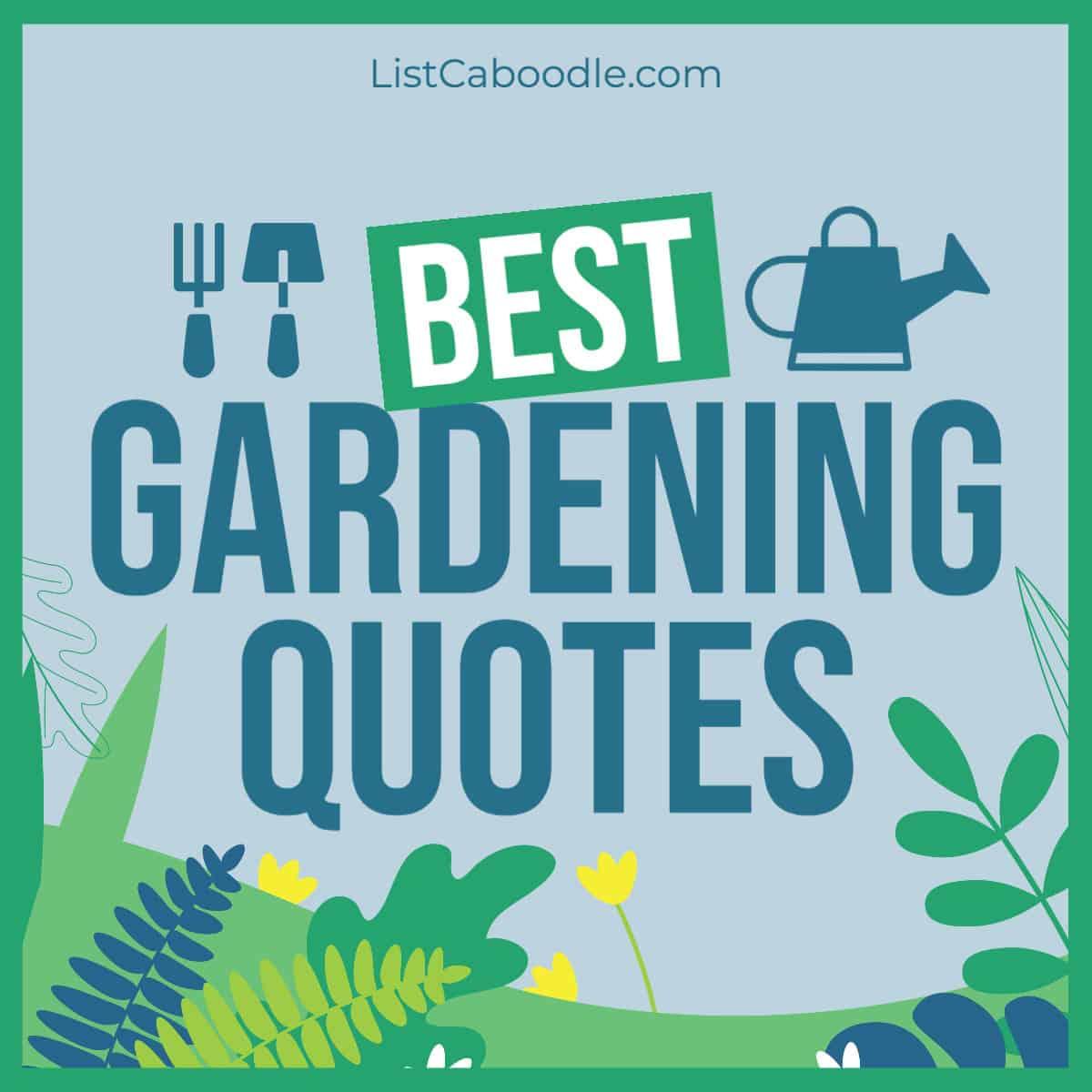 Best Gardening Quotes image