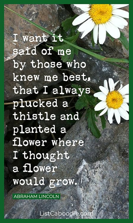 Lincoln gardening quote image