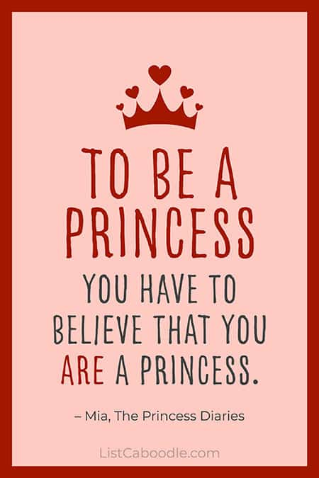 The Princess Diaries quote