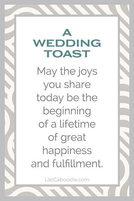 The joys you share wedding toast