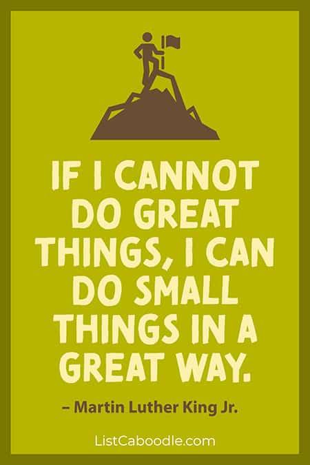 MLK success quote