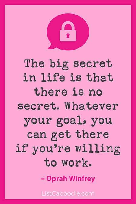 Oprah Winfrey hard work quote